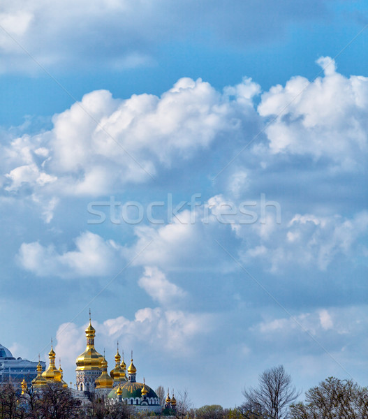 Peaceful sky with clouds over Ukraine Stock photo © pzaxe