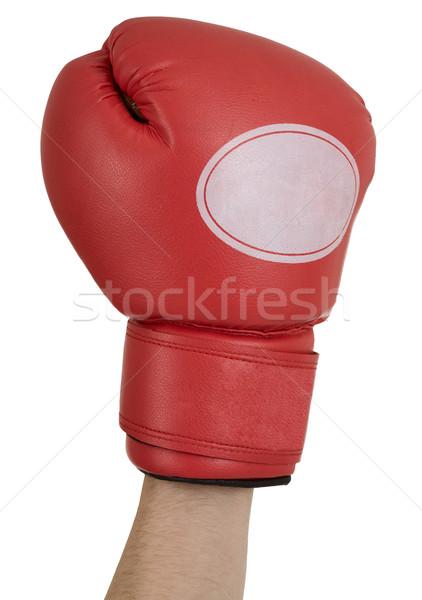 стороны красный боксерская перчатка белый фон окна Сток-фото © pzaxe