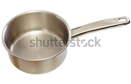 Foto stock: Cocina · cucharón · metal · blanco · aislado · largo