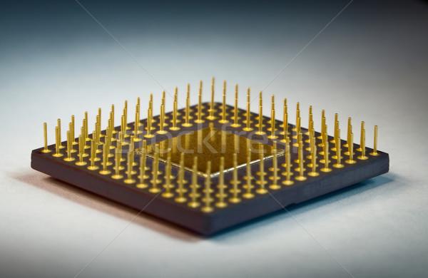 Jambes processeur ordinateur orange science industrielle Photo stock © pzaxe