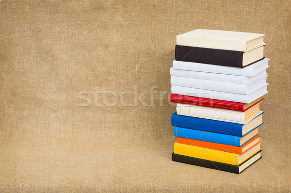 Pyramid from books on a canvas Stock photo © pzaxe