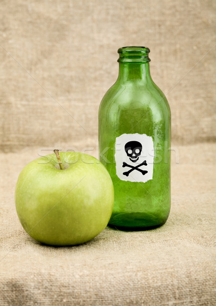 Green bottle and green apple Stock photo © pzaxe