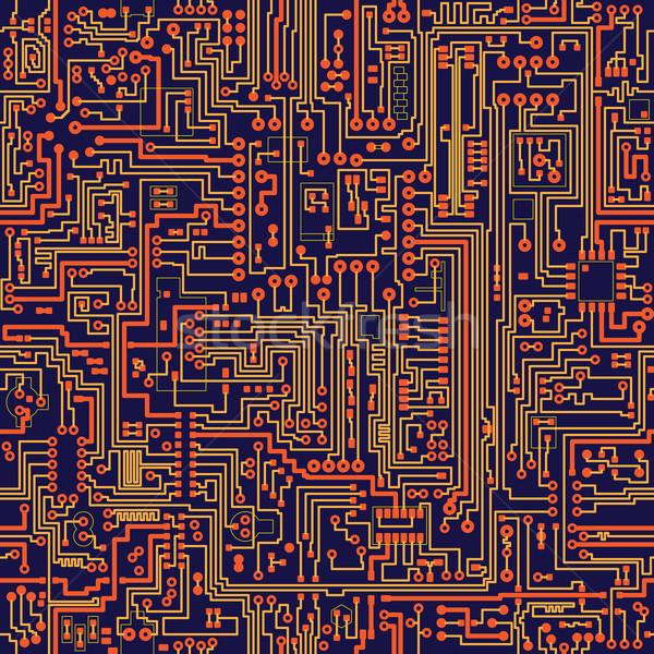Senza soluzione di continuità vettore texture circuito colore elettronica Foto d'archivio © pzaxe