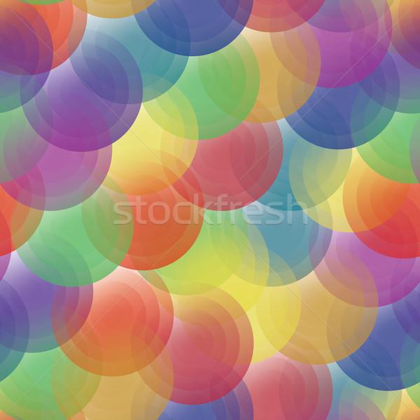 Vector background - color transparent circles Stock photo © pzaxe