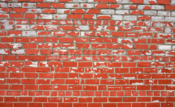 Decayed brick wall Stock photo © pzaxe