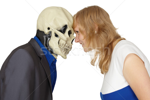 Confrontation of death and people Stock photo © pzaxe