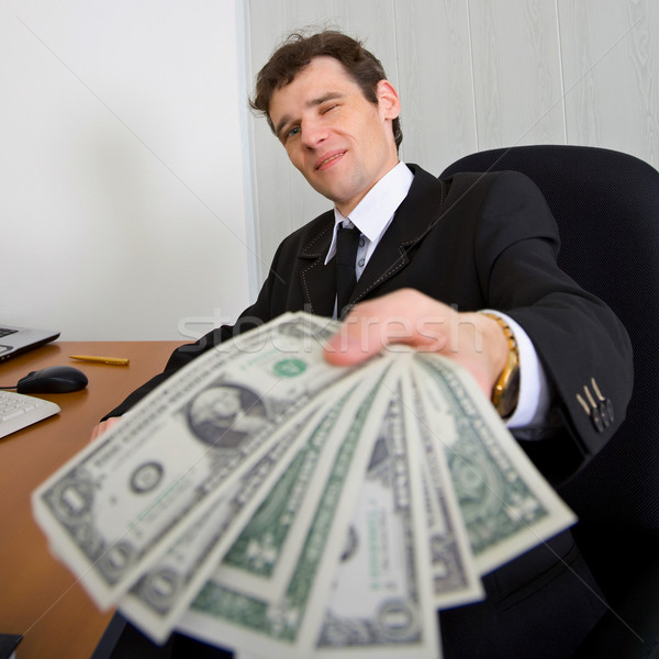 The artful businessman and money Stock photo © pzaxe