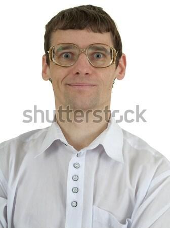 Ritratto uomo occhiali bianco bellezza uomini Foto d'archivio © pzaxe