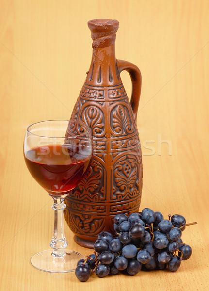 Ceramica brocca vetro ancora vita vino bere Foto d'archivio © pzaxe