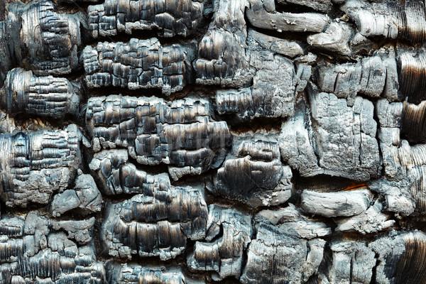 ストックフォト: 木製 · 壁 · 火災 · 黒 · テクスチャ · デザイン