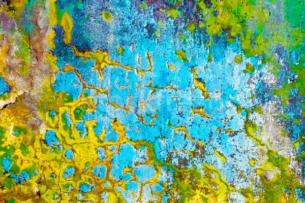 Dirty multicolor peeling wall Stock photo © pzaxe