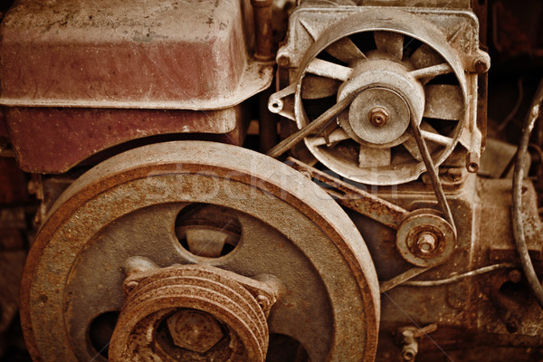 Starych maszyn zardzewiałe budowy przemysłu Zdjęcia stock © pzaxe
