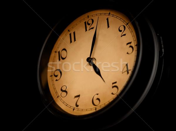 антикварная часы набирать номер темно стороны фон Сток-фото © pzaxe