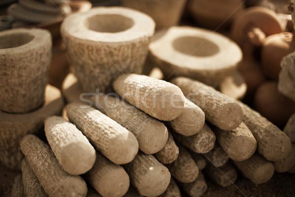 каменные продукции рынке Мьянма тесные Сток-фото © pzaxe