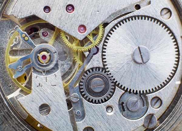 Ancient metal clockwork Stock photo © pzaxe