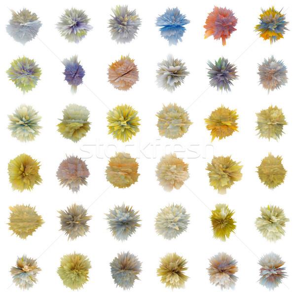 Conjunto cor abstrato branco diferente forma Foto stock © pzaxe