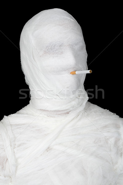 Mummy with cigarette Stock photo © pzaxe