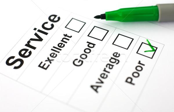Questionnaire vert marqueur blanche papier Photo stock © pzaxe