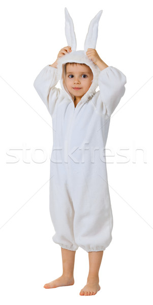 Boy dressed as a rabbit standing Stock photo © pzaxe