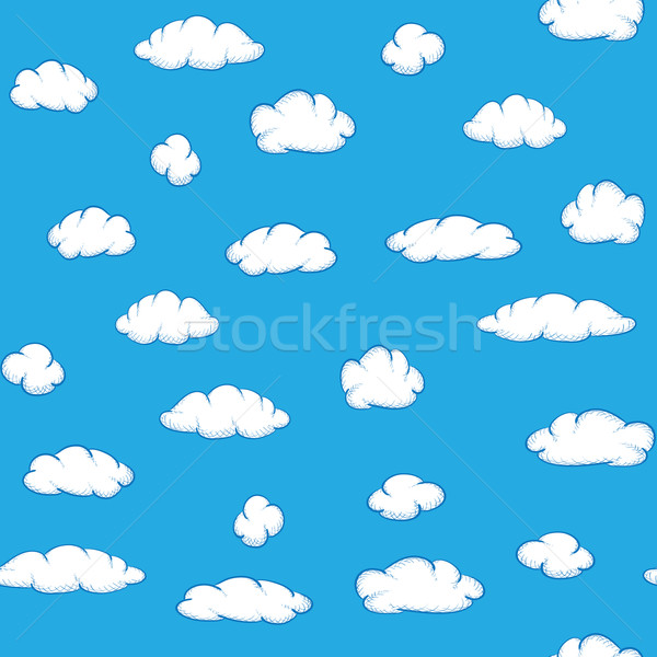Vector clouds on sky - seamless texture Stock photo © pzaxe