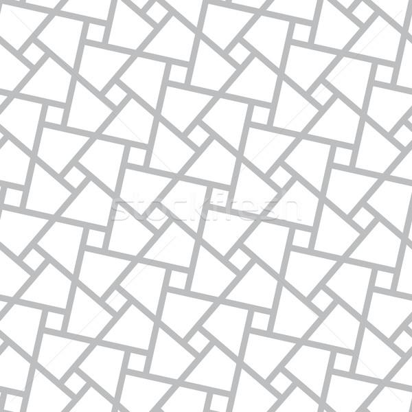 Stock photo: Vector seamless pattern - poligonal geometric modern simple back