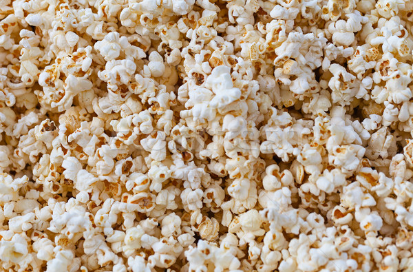 Primo piano view fresche soffice popcorn bianco Foto d'archivio © pzaxe