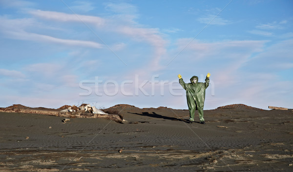 Man in overalls like an alien Stock photo © pzaxe