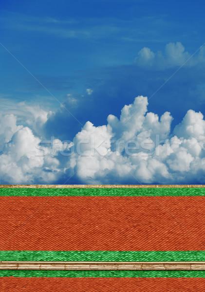 Сток-фото: небе · крыши · храма · облачный · старые