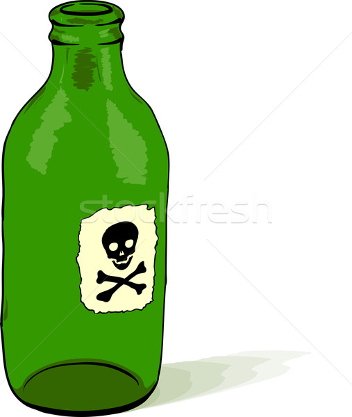 Bottle with poison symbol - vector illustration Stock photo © pzaxe