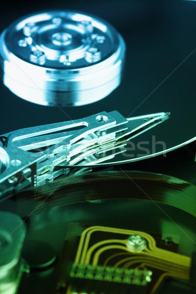 Details elektronischen Gerät Festplatte mechanische grünen Stock foto © pzaxe