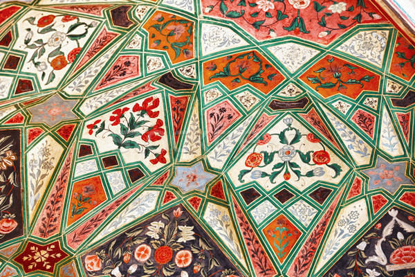 Medieval pattern in a indian mosque Stock photo © pzaxe