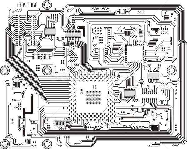 Electronic modern circuit board vector background Stock photo © pzaxe