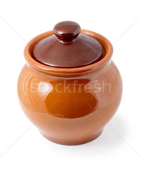 Enameling ceramic pot on white background Stock photo © pzaxe