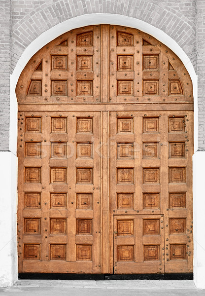 Big old wooden gate - Moscow Kremlin, Russia. Stock photo © pzaxe
