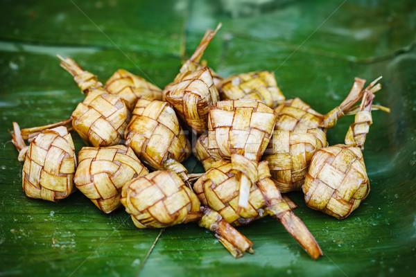 Ketupat - traditional eastern dish Stock photo © pzaxe