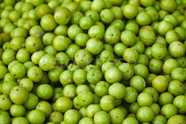 Amla fruits on indian open market Stock photo © pzaxe