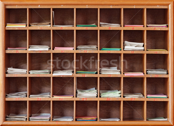 Cabinet with notes for divination in the interior of a Buddhist  Stock photo © pzaxe