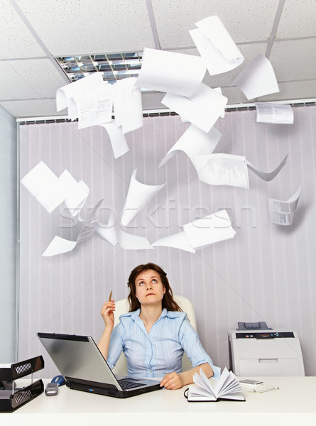 Office worker and annoying documentation Stock photo © pzaxe