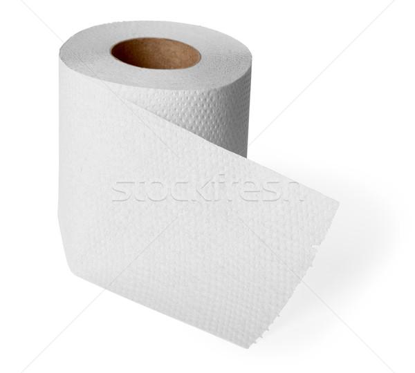 Rotolare carta igienica bianco grigio isolato sfondo Foto d'archivio © pzaxe