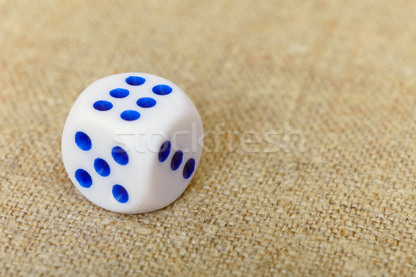 Dice on canvas Stock photo © pzaxe