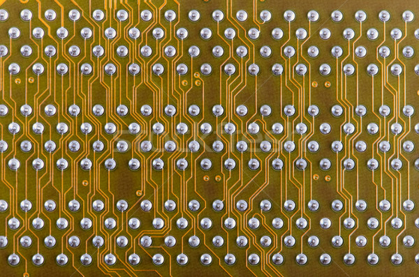 Industrial electronic yellow background Stock photo © pzaxe