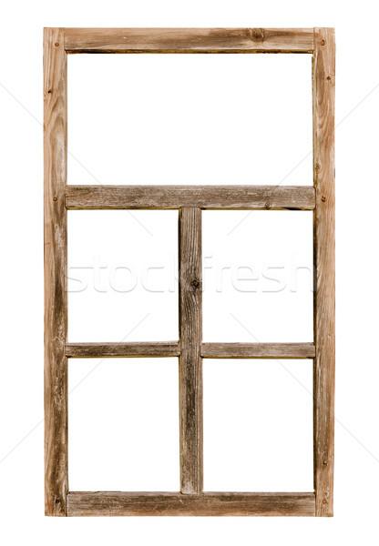 Vintage semplice legno isolato bianco Foto d'archivio © pzaxe
