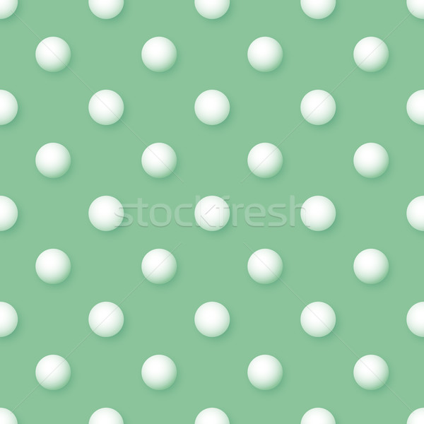 Vector abstract vintage seamless polka dots volumetric green pat Stock photo © pzaxe