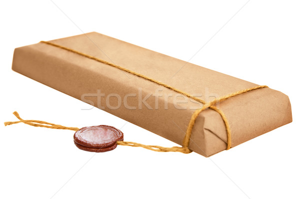Packet with old wax seal Stock photo © pzaxe