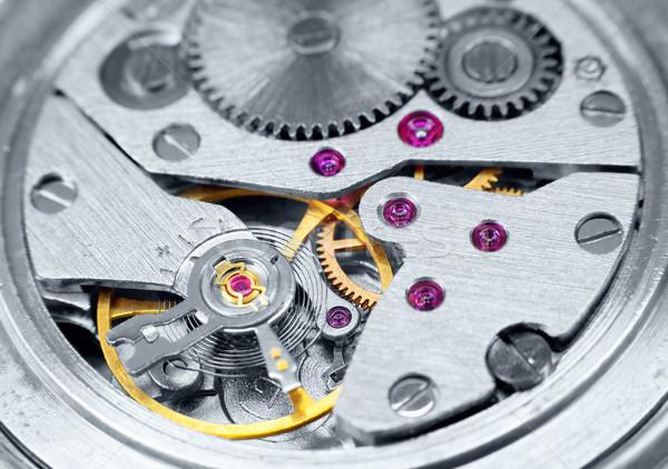Ancient metal clockwork close-up Stock photo © pzaxe