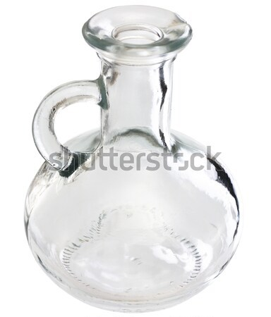 Special vessel for vegetable oil on white background Stock photo © pzaxe
