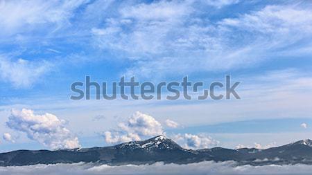 A mountain panorama - Carpathians Stock photo © pzaxe