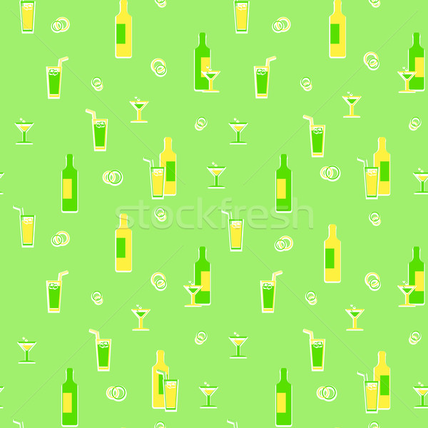 Kağıt ambalaj içkiler Retro vektör kâğıt Stok fotoğraf © pzaxe