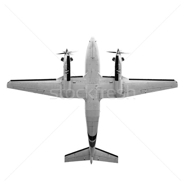 Twin prop cargo plane isolated on white background Stock photo © pzaxe