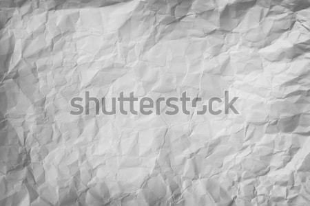Crumpled piece of gray paper background Stock photo © pzaxe